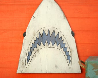 Shark Head Decor Great White Shark JAWS Fish Decor Nautical Decor Beach Decor