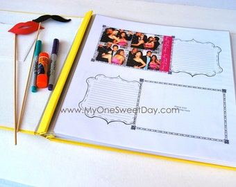 Extra pages for 4x6 Photobooth Scrap Book Wedding Guest Book Photo Booth Guest Book pages