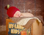 RUSH READY Baby Apple hat Newborn SALE Crochet Red Green Fall Boy Girl 6-12 3-6 12-24 mos toddler Photo Studio Prop Photography Hats Beanie