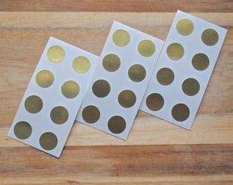 24 Gold Polka Dots - Mini
