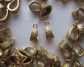 Antique Golden Tibetan Pendants 14.5mm 10 Pendants