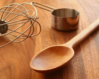 Heavy duty wooden spoon for mixing of Sugar Maple wood
