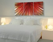 abstract metal art red modern painting contemporary home living bed room office waiting Original unique elegant hand made wall decor by Lubo