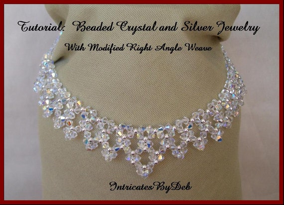 Right Angle Crystal : Tutorial beaded modified right angle weave drop necklace