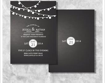 Summer Lights Wedding Invitation