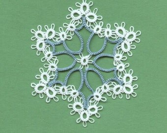 Made-to-Order Tatting --- Pls note price is PER hexagonal snowflake -- Tatted  DOILY  - - using PAULINA pattern