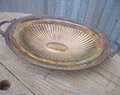 Vintage Silver Plated Footed Bowl, Silver Cottage Chic Bowl