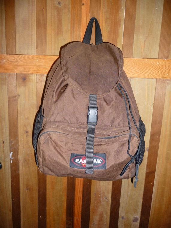 Leather Eastpak Backpack: Vintage EASTPAK Leather Bottom Backpack Made In USA Great