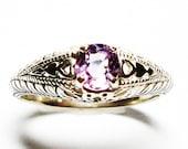 """Pink spinel ring, spinel, spinel ring, pink, pink jewelry,  s 7 """"Park Avenue"""""""