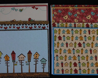 Birds &  Bird Houses - Note Card Set with Coordinating Envelopes
