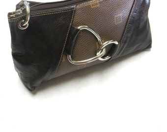 Brown Leather Purse Texier