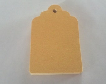 30 Metallic Gold Tag Punches Die Cuts Embellishments