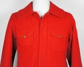 Vintage Men's 1940's Red Woolrich Hunting Jacket - Size L