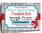 Crawfish Boil Invitation Printable or Printed with FREE SHIPPING - Birthday, Engagement, Family Party or Just for Crawfish