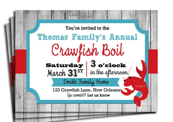 Genius image for crawfish boil invitations free printable