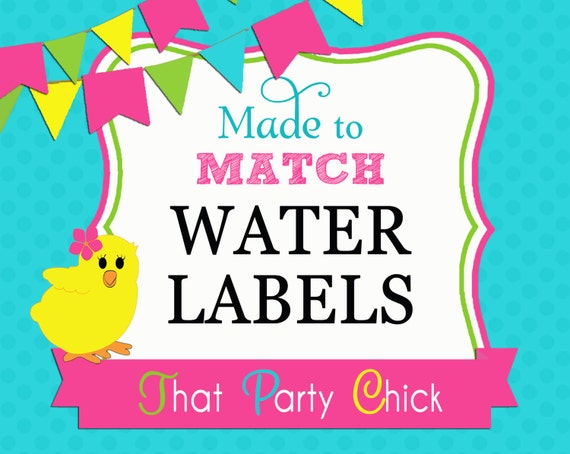 Made to Match Personalized Printable Water Bottle Label Wraps