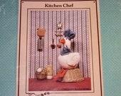 Vintage Kitchen Chef Goose pattern