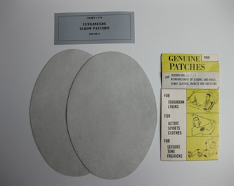 Elbow Patches - Light Gray Ultrasuede - Set of 2