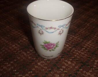 vintage lefton porcelain bedside bathroom glass cup