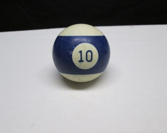 Vintage pool table ball, no. 10, upcycle supplies