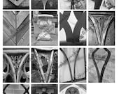Letter V Photography From Guelph Ontario Canada. Use For Words, Last Names, or Initials. Pictures include Churches, Fences, Buildings.