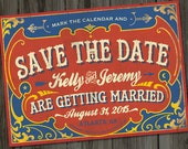 Antique Circus Save The Date Printable Wedding Announcement