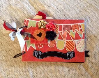 Children's Birthday Photo Scrapbook Album Keepsake Chalkboard page and accents