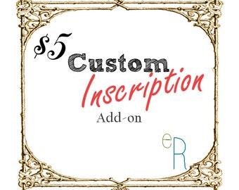 Custom Inscrption Engraving Add-On