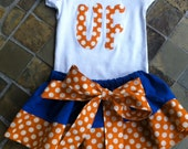 UF University Florida  Auburn  Girls Cheerleading Football sizes 6 mos to 6 years