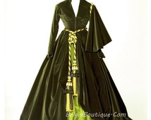 GWTW Pageant OOC costume Scarlett O'hara Drapery Green Dress Curtain Dress gone with the wind baby girl toddler casual wear 12m up 7/8  yr