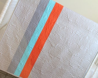 Baby Crib Bedding- Design Your Own Baby and Toddler Modern Stripe Quilt in Fabrics You Choose