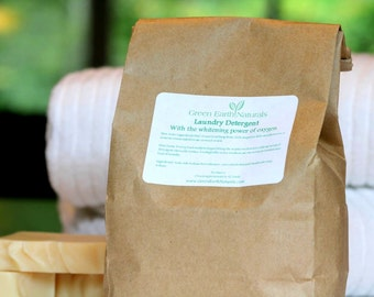 Laundry Detergent, No Toxins, Whitens with Oxygen, Packaged in a Compostable Refill Bag