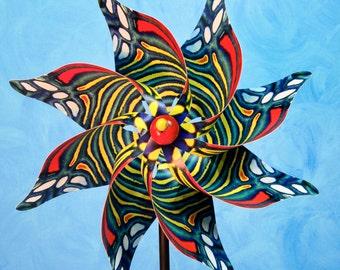 Jezebel Butterfly Pinwheel Spinner Whirligig Windmill Fan