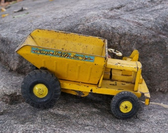 LUMAR MOBILE  dump truck .  vintage metal toy
