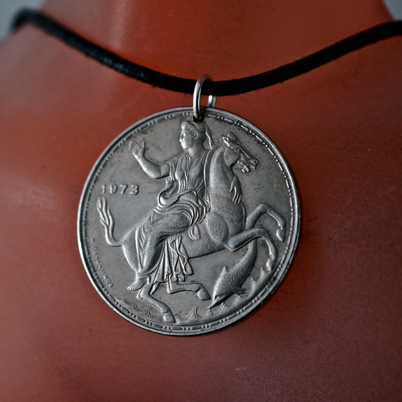 greece necklace coin jewelry coin necklace pendant