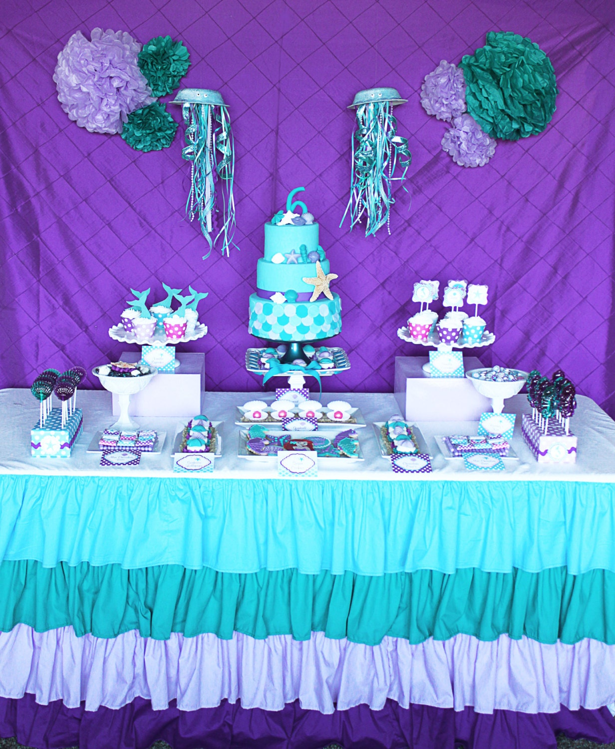 Diy ariel inspired little mermaid birthday by cupcakeexpress - Decoracion party ...