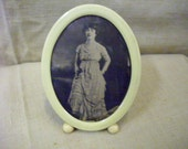 Antique Celluloid Picture Frame and Picture
