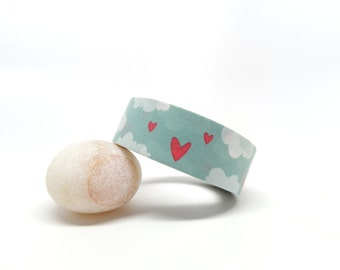 Hearts Washi Tape - Valentine Washi Tape - Love Washi Tape - Hearts in the Sky Washi Tape, 15mm x 10m