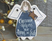 Classroom Helper Salt Dough Thank You Gift Ornament / Teacher Assistant / Teacher Aide