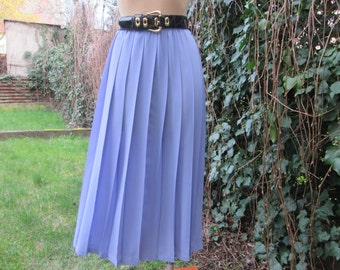 Pleated Skirt / Pleated Skirts / Skirt Vintage / Long /Maxi / Big / Large / Pale Violet / Size EUR44 / 46 X UK16 / 18