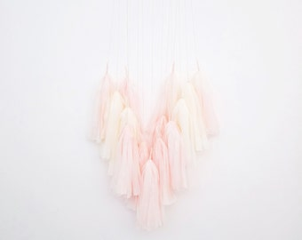 Pink Milk Tassel Mobile