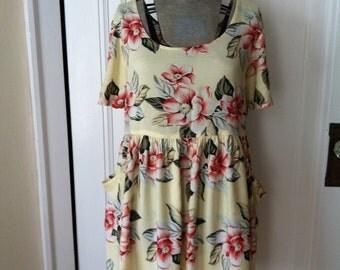 Vintage Floral Dress - 90s