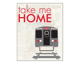 CTA Red Line Train to Howard