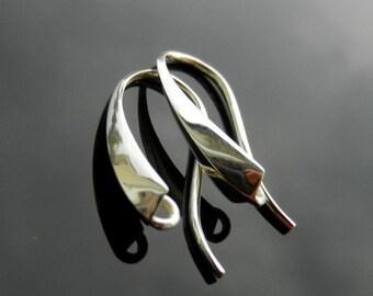 EXCLUSIVE Sterling Silver Earring Ear HOOKS Findings Earwires Silver 925 1 PAIR