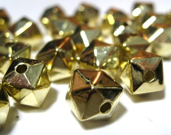Faceted Beads CCB Acrylic Lightweight 8mm  Faceted Cube Antique Bronze color 25 pieces