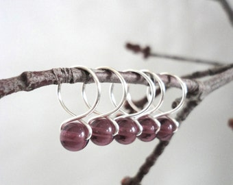 Eggplant - Snag Free Knitting Stitch Markers (Medium) - Fit up to size 11 US (8.0 mm)