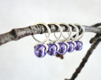 Crocus - Snag Free Knitting Stitch Markers (Small) - Fit up to size 8 US (5.0 mm)