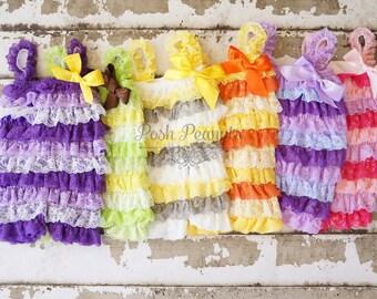 petti lace romper - Baby Romper - Lace Romper - Girls Romper -baby outfit - Ruffle Romper - Petti Lace Romper - Baby  - rompers -