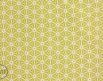 Half Yard Sidewalks Geometric Star in Lime Green, October Afternoon, Riley Blake Designs, 100% Cotton Fabric, C3485-Green