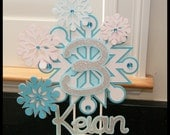 "Snowflake, ""Frozen"", Winter Wonderland, Personalized Cake Topper"